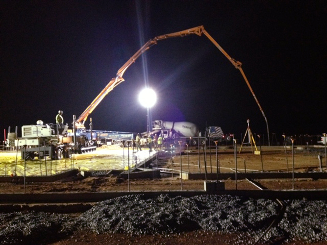 Trehel continues work at the new Walhalla High School site